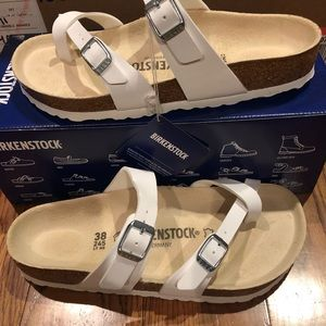 Birkenstock Mayari white 7 medium new